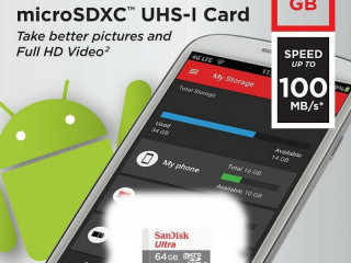 64GB SanDisk Ultra Android Class 10 MicroSDHC-geheugenkaart,