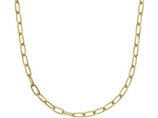 Paperclip ketting 41 cm - 925 zilver Made in Italy