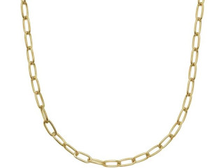 Paperclip ketting 56 cm - 925 zilver Made in Italy