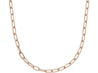 Paperclip ketting 61 cm - 925 zilver Made in Italy